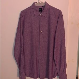 Same Fifth Ave Slim Fit Mens Button Up Sz Large
